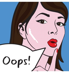 Oops Girl vector image vector image