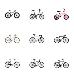 Realistic fashionable cyclocross drive old and vector