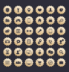 36 icons for web apps and other projects vector image