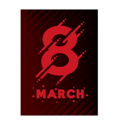 8 march international womens day happy mothers vector image