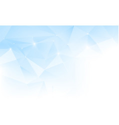 abstract blue and white polygonal mosaic vector image