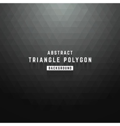 Abstract dark triangle polygon background vector
