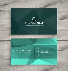 Abstract polygonal shape business card vector