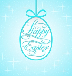 Background with lettering on the theme of Easter e vector