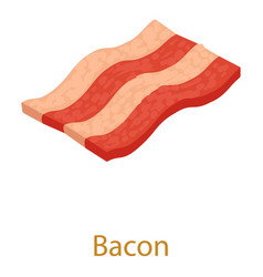 Bacon icon isometric 3d style vector