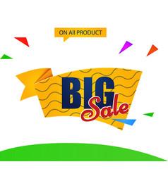 banner big sale vector image