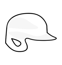 Baseball helmet icon image vector