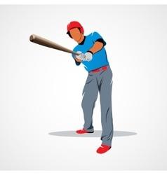 Baseball player ball vector