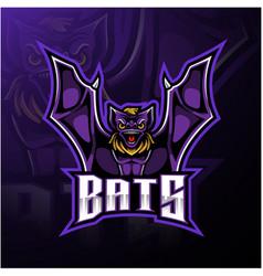bat mascot sport logo design vector image