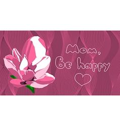 Be happy mom vector
