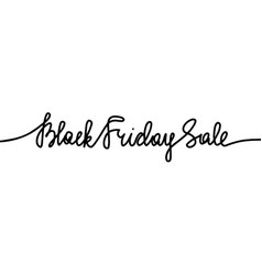 black friday sale monoline lettering vector image