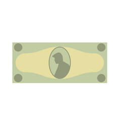 cash green banknote with a portrait money on a vector image