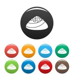 Choco bonbon icons set color vector