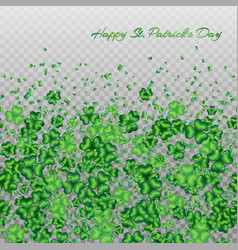Clover pattern transparent vector