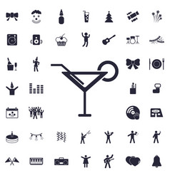 Cocktail icon vector