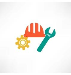 Color settings button icon vector image