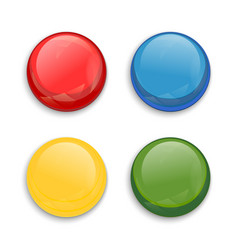 Colored glossy button vector