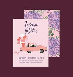 couple wedding card vector image