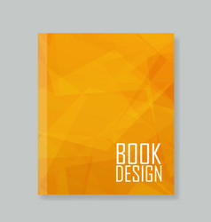 Cover report abstract orange background vector