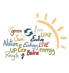 Creative ecology advise vector image