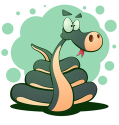 cute snake cartoon funny vector image