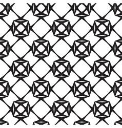 Diamonds Black and White Seamless Pattern vector image