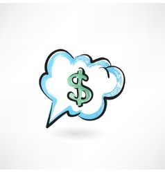 Dollar sign in the cloud vector image