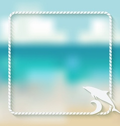 Dolphin marine background vector