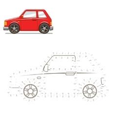 Draw car educational game vector