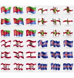 Eritrea Alderney French Polynesia Iceland Set of vector