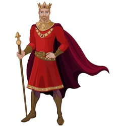 Fantasy King in Red vector image