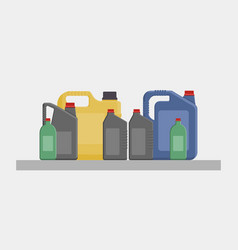 flat of different canisters vector image