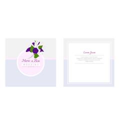 floral wedding invitation template elegant vector image