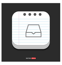 folder archive icon gray icon on notepad style vector image