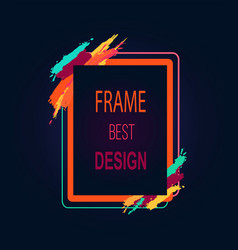 Frame best design rectangular bright border icon vector