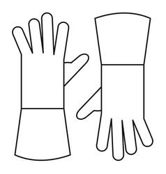 garden gloves icon outline style vector image