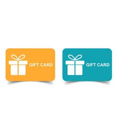 Gift card discount coupon flat vector