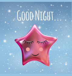 good night sky background vector image