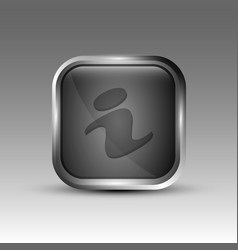 gray information logo vector image