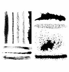 Grunge ink splashes vector