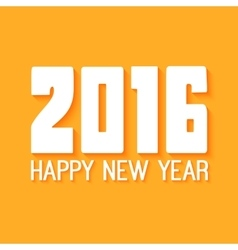 Happy New Year Paper text design on yellow vector