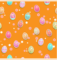 holiday easter pattern vector image