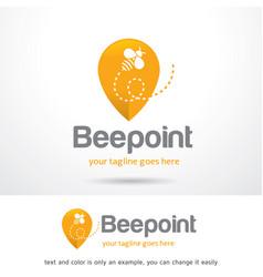 Honey bee logo template vector