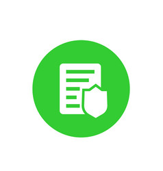 Insurance policy round icon vector