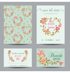 Invitation-Congratulation Card Set - for Wedding vector