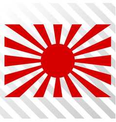 Japanese rising sun eps icon vector