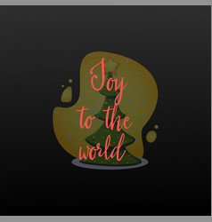 joy to world festive banner on a black vector image