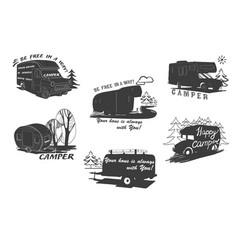 Lettering travel typographic logo vector