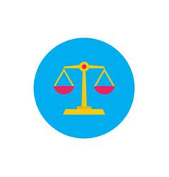 libra scale - concept colored icon in flat graphic vector image