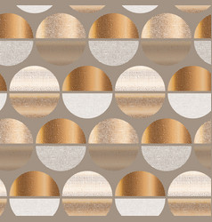 Light golden geometric round seamless pattern vector